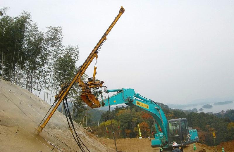 吊り下げ式ロックボルトマシン
